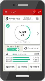 楽天モバイルのアプリ