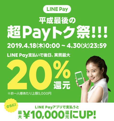 LINE Payのペイ得キャンペーン
