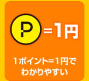 ハピタスは1ポイント1円