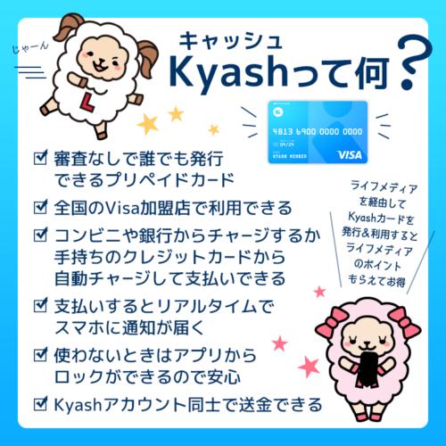 ライフメディアとkyash
